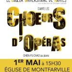 Choeurs d'opéra 1er mai 2016 Montfarville