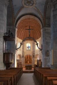 Eglise de Barfleur l'allée principale